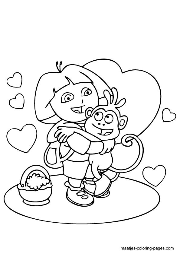 Dora coloring page   842x595