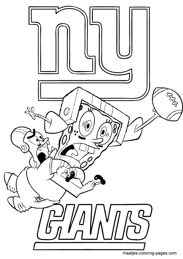 New York Giants, Spongebob and Patrick