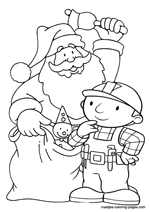 Santa Claus and Bob the Builder