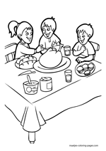 thanksgiving coloring pages